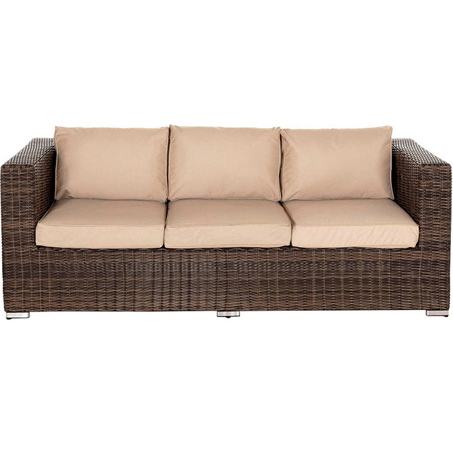 S18R3-B 6Pcs Outdoor Wicker Rattan Sofa and Chairs Patio ...